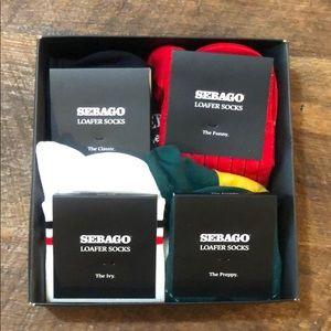 Sebago Sock Guide 4 pack loafer socks